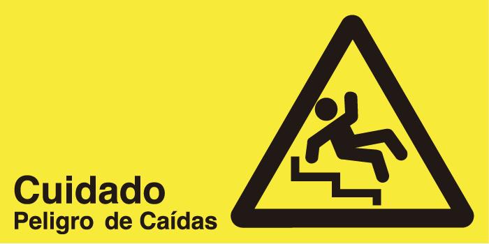 señaletica seguridad cuidado peligro de caidas