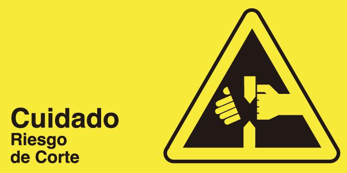 señaletica seguridad cuidado riesgo corte