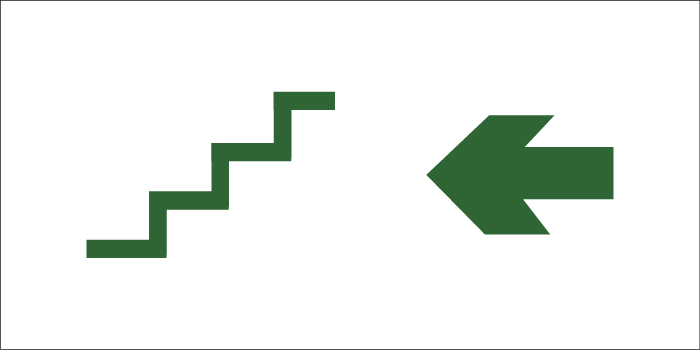 led senaletica escape escaleras flecha izquierda 1
