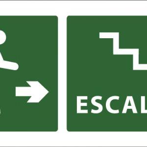 led senaletica escape escaleras icono derecha