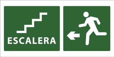 led senaletica escape escaleras icono izquierda 1