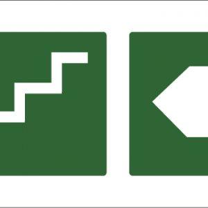 led senaletica escape escaleras izquierda