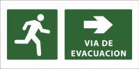 led senaletica via de evacuacion camino derecha