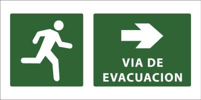 led senaletica via de evacuacion camino derecha 1