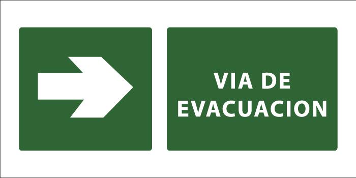 led senaletica via de evacuacion derecha