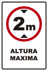 señaletica transito altura maxima 2