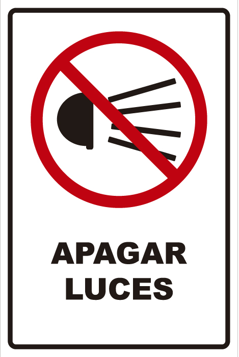 señaletica transito apagar luces 1