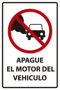 señaletica transito apague motor vehiculo