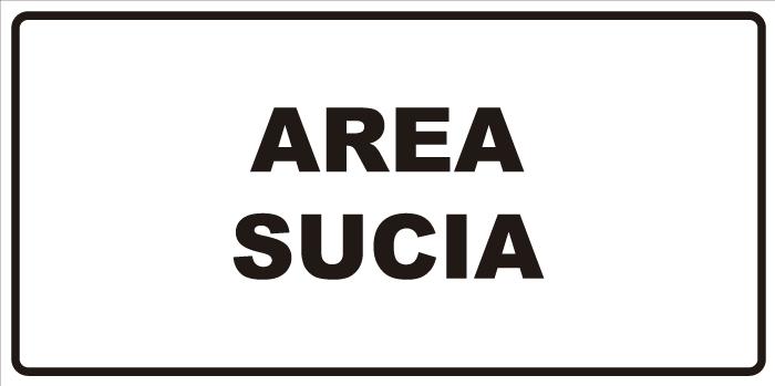 señaletica area sucia