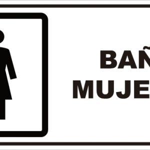 señaletica baño mujeres