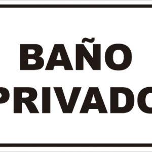 señaletica baño privado