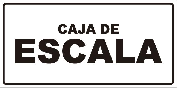 señaletica caja de escala