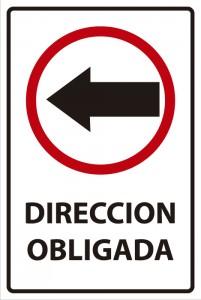señaletica transito direccion obligada 2