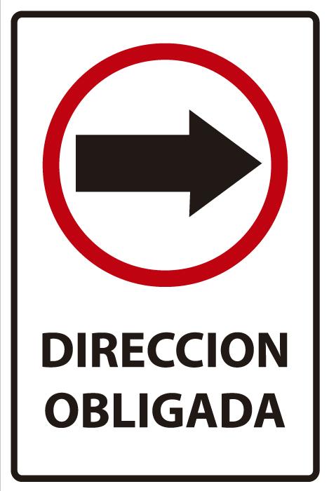 señaletica transito direccion obligada 1