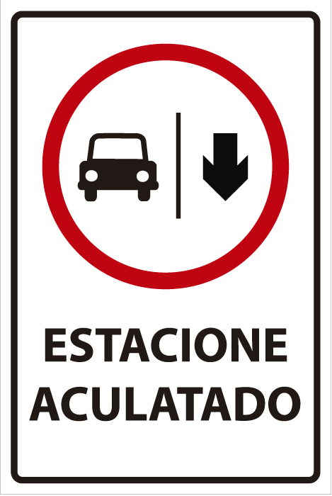 señaletica transito estacione aculatado 1