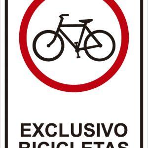 señaletica transito exclusivo bicicletas