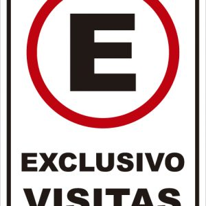señaletica transito exclusivo visitas