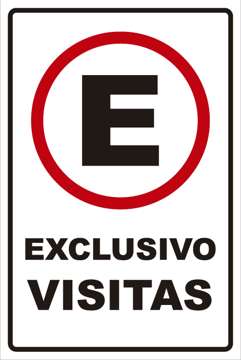 señaletica transito exclusivo visitas 1