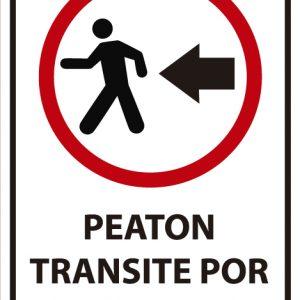 señaletica transito peaton transite izquierda