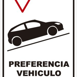 señaletica transito preferencia vehiculo subiendo