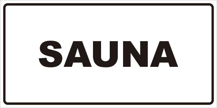 señaletica sauna