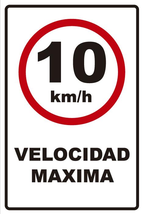 señaletica transito velocidad maxima 10km 1