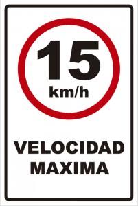 señaletica transito velocidad maxima 15km
