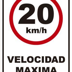 señaletica transito velocidad maxima 20km