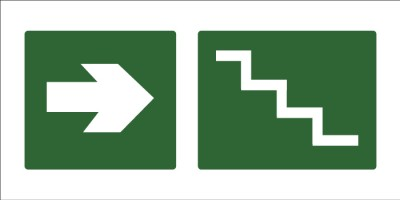 led senaletica escape escaleras derecha 1