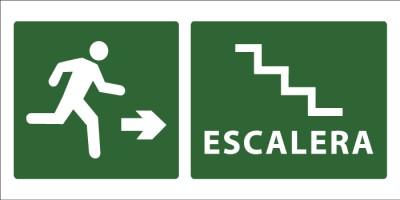 led senaletica escape escaleras icono derecha 1