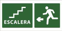 led senaletica escape escaleras icono izquierda