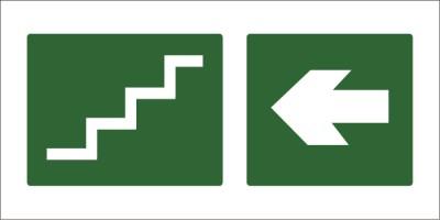 led senaletica escape escaleras izquierda 1