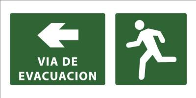 led senaletica via de evacuacion camino izquierda 1