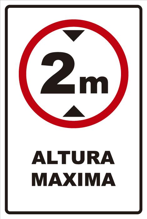 señaletica transito altura maxima 2 1