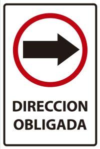 señaletica transito direccion obligada