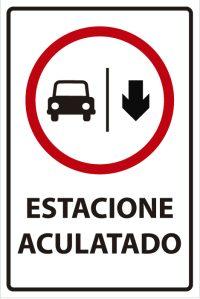 señaletica transito estacione aculatado