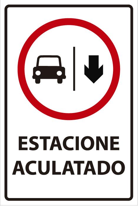 señaletica transito estacione aculatado 1