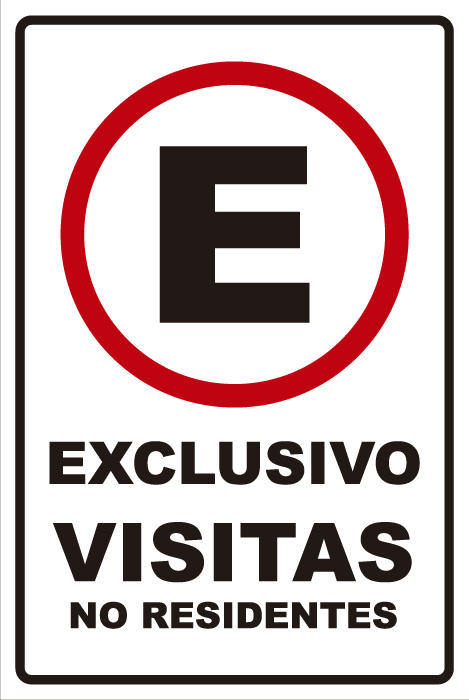señaletica transito exclusivo visitas no residentes 1