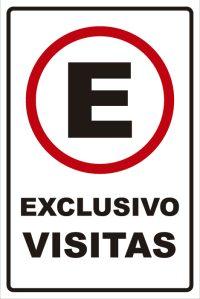 señaletica transito exclusivo visitas