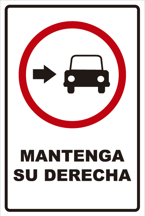 señaletica transito mantenga derecha 1