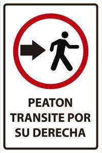 señaletica transito peaton transite derecha