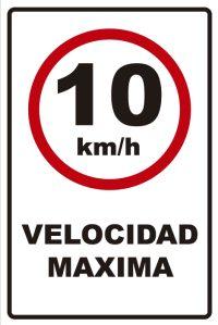 señaletica transito velocidad maxima 10km
