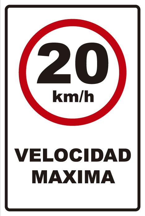 señaletica transito velocidad maxima 20km 1