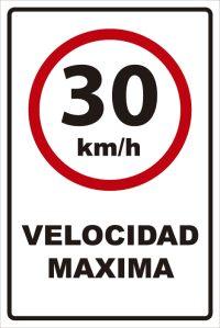 señaletica transito velocidad maxima 30km