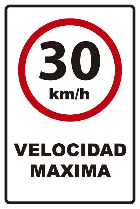 señaletica transito velocidad maxima 30km 1